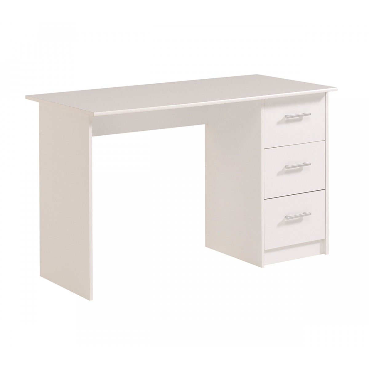 Someo bureau en bois blanc m g ve june for Bureau en bois blanc