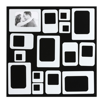 brio cadre photo multivues lyra n o noir et blanc 45x45. Black Bedroom Furniture Sets. Home Design Ideas