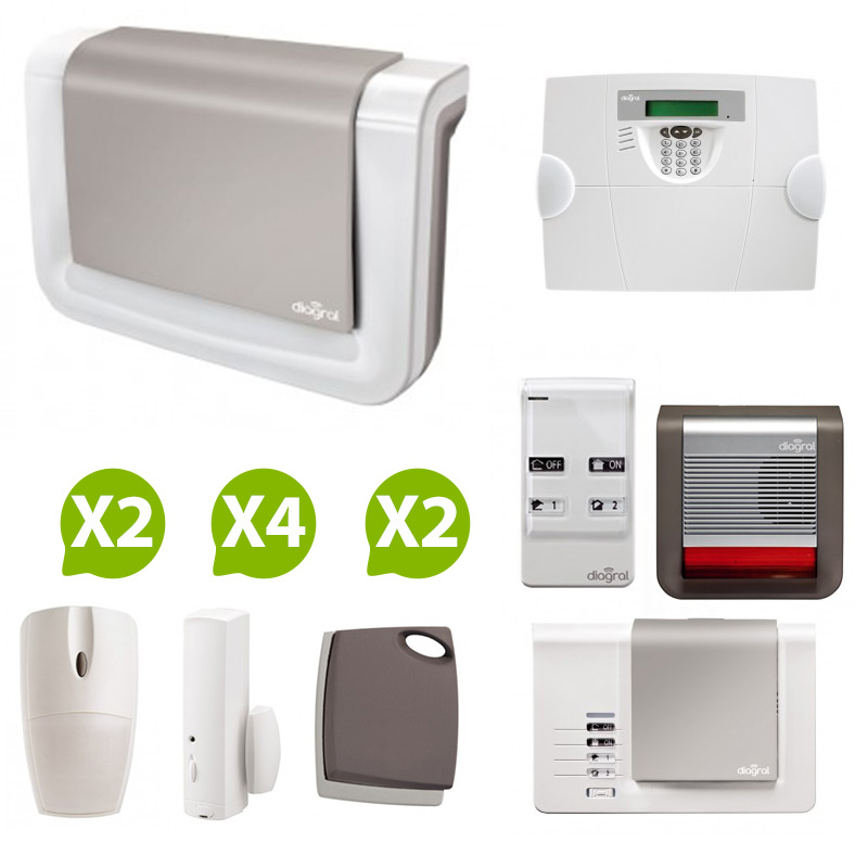 Diagral alarme sans fil de maison nf a2p protection 2 for Alarme maison sans fil diagral