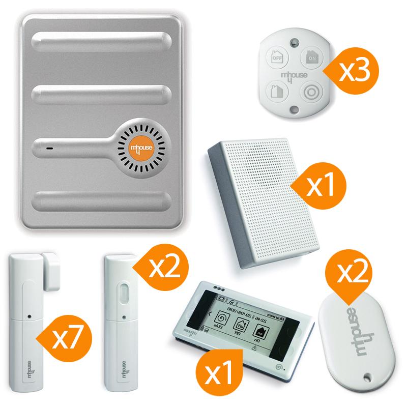 mhouse alarme gsm sans fil de maison kit 6. Black Bedroom Furniture Sets. Home Design Ideas