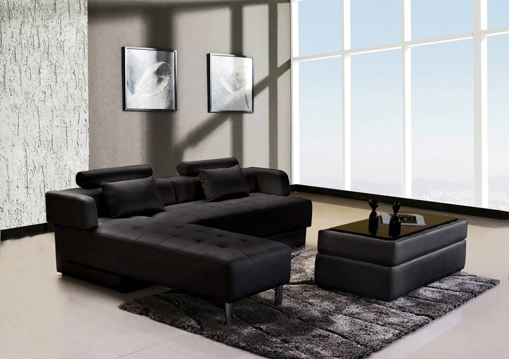 switsofa ensemble largo cuir noir canap dangle r versibl. Black Bedroom Furniture Sets. Home Design Ideas