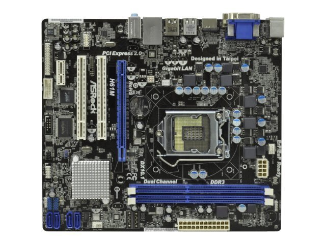 asrock h61m carte m re atx intel h61 1155 socke. Black Bedroom Furniture Sets. Home Design Ideas