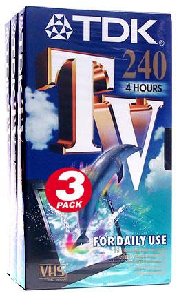 tdk cassette vhs tv 240 240 min. Black Bedroom Furniture Sets. Home Design Ideas