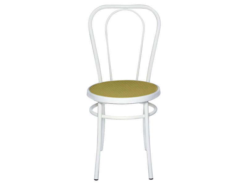 chaise bistrot pvc blanc