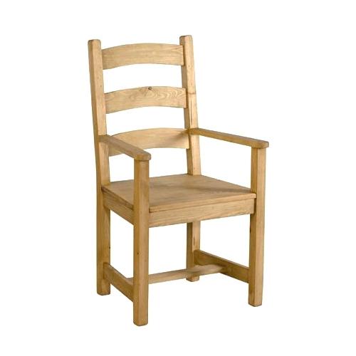 Couleurs chaise rustique en pin avec accoudoires lot de 2 for Chaise salle a manger accoudoir