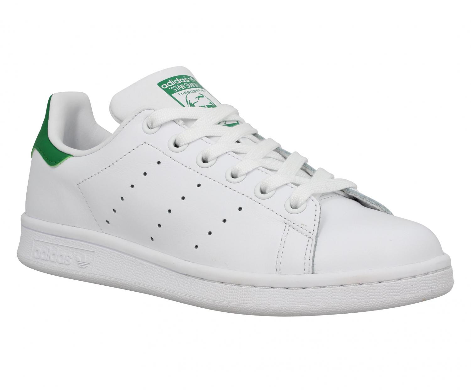 new product 62400 10654 Adidas Baskets Stan Smith Femme Blanc + Vert