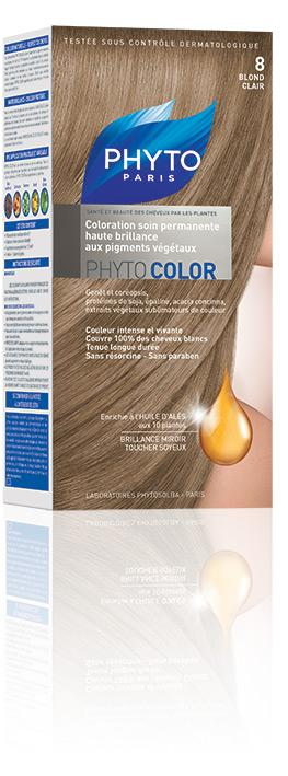 phyto phytocolor coloration soin nuance 8 blond clair 1 kit - Colorations Phyto