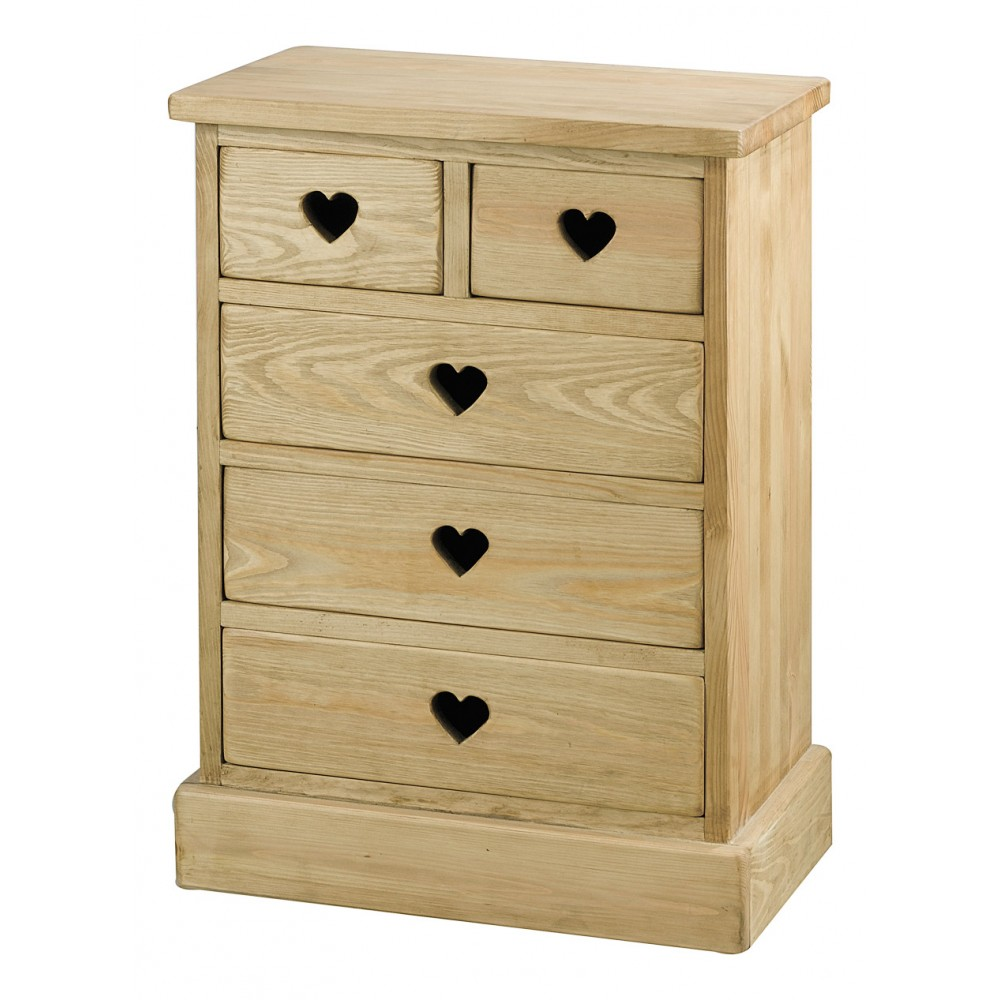 couleurs mini commode en bois brut peindre avec 5 tiroirs. Black Bedroom Furniture Sets. Home Design Ideas