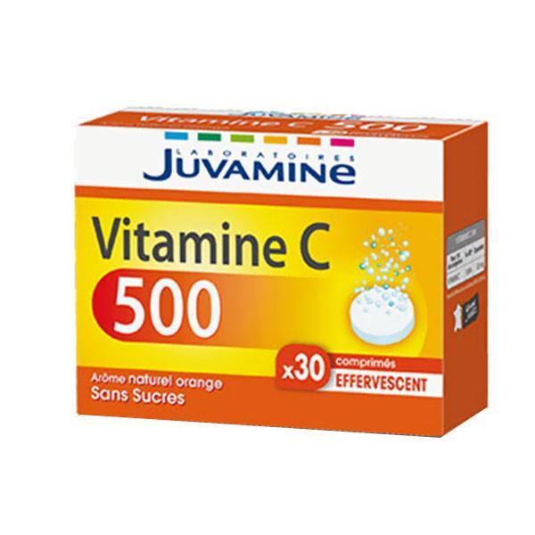 Juvamine Vitamine C 500 Sans Sucres Effervescents 30