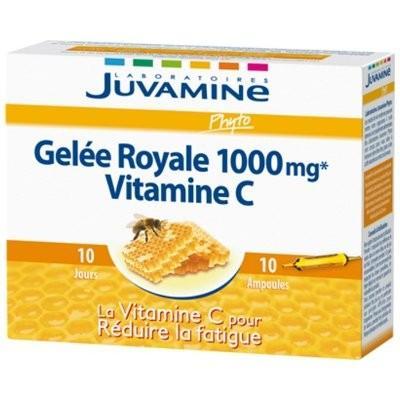 Juvamine C gelee royale 1000mg et vitamine c 10 ampoules