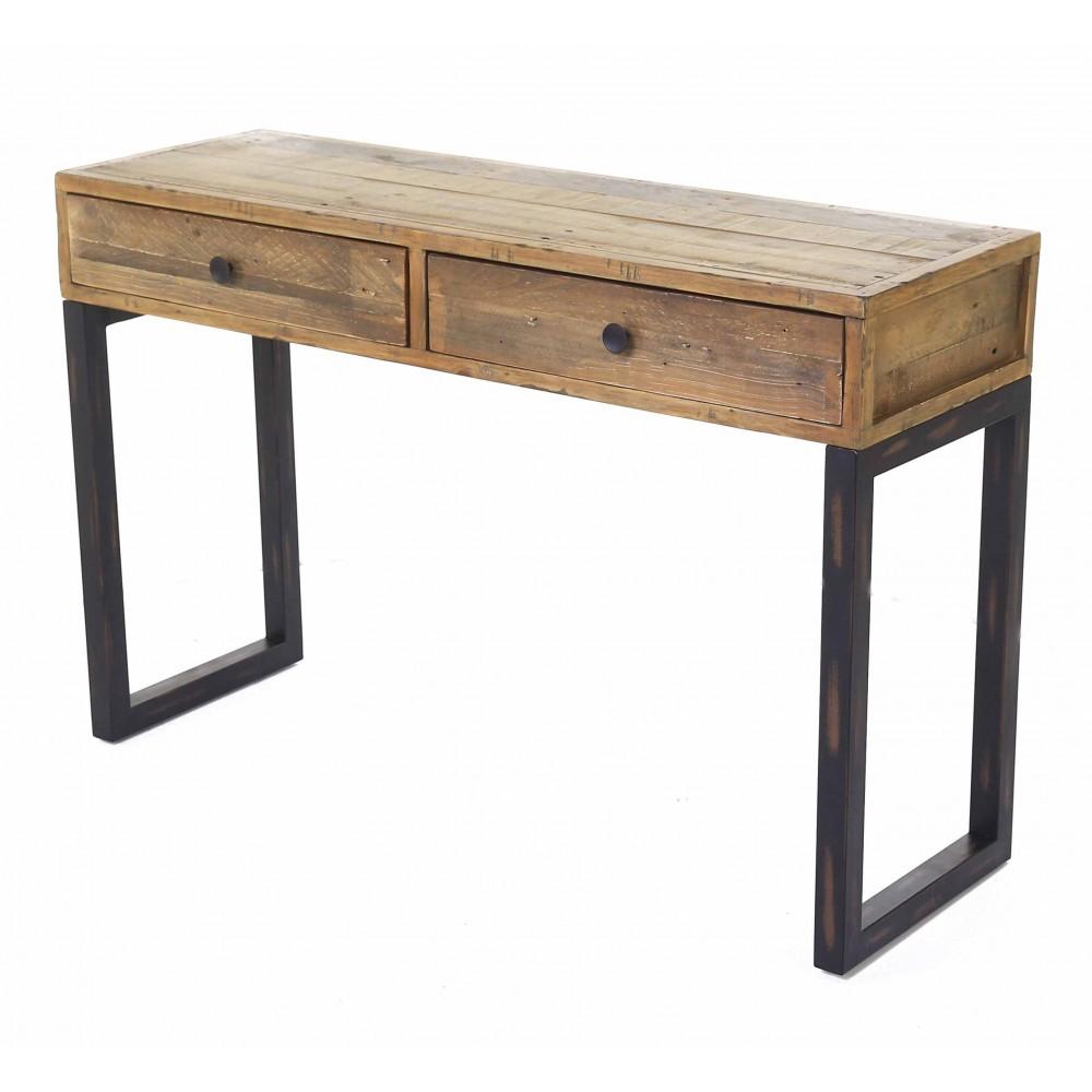 couleurs console en bois brut peindre d int rieur cat gorie. Black Bedroom Furniture Sets. Home Design Ideas