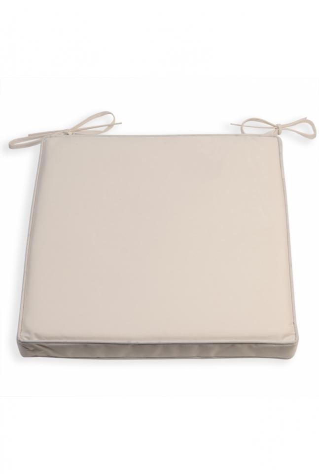 Galette de chaise impermeable beige - Coussin impermeable pour salon de jardin ...