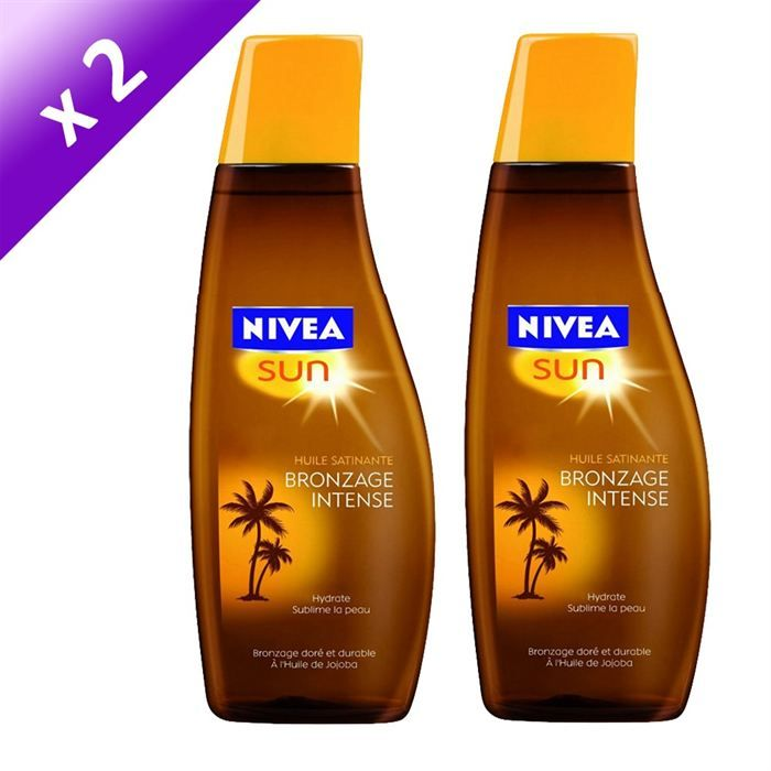 nivea huile satinante bronzage intense x2. Black Bedroom Furniture Sets. Home Design Ideas