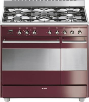 Smeg ccuisini re gaz scg92prw8 cat gorie cuisini re gaz - Prix piano de cuisson ...