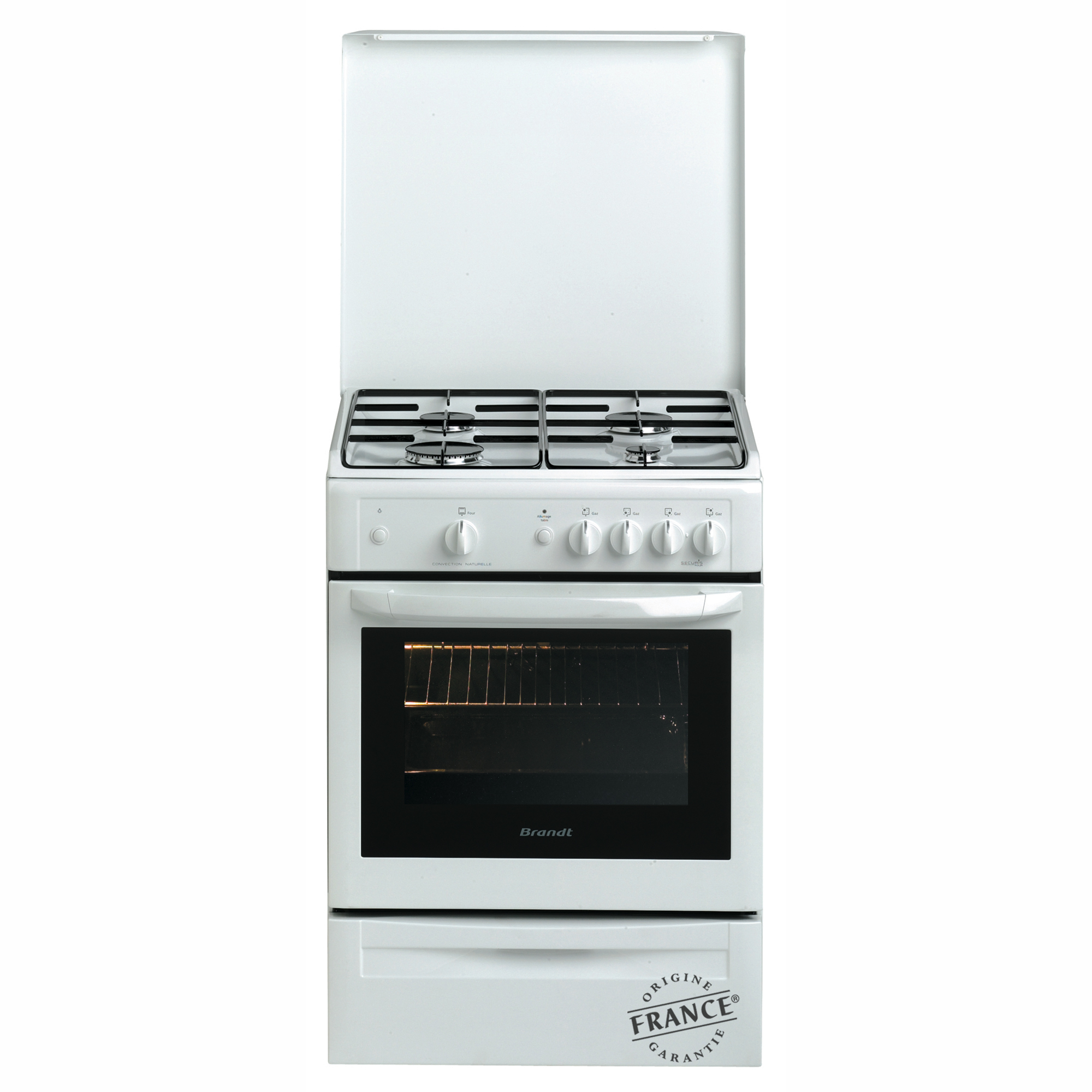 Brandt cuisini re gaz kge1000w - Cuisiniere a gaz ...