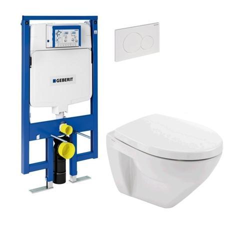 GEBERIT Pack WC suspendu faible paisseur 8cm, cuvette courte 48cm et