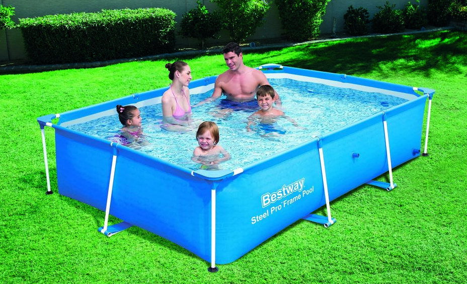Bestway piscine tubulaire 412 x 201 x h122 cm power steel for Piscine rectangulaire bestway