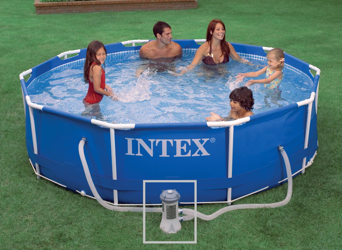 intex liner pour piscine metal frame tubulaire ronde dimension 4 57 x h1 22m catgorie. Black Bedroom Furniture Sets. Home Design Ideas