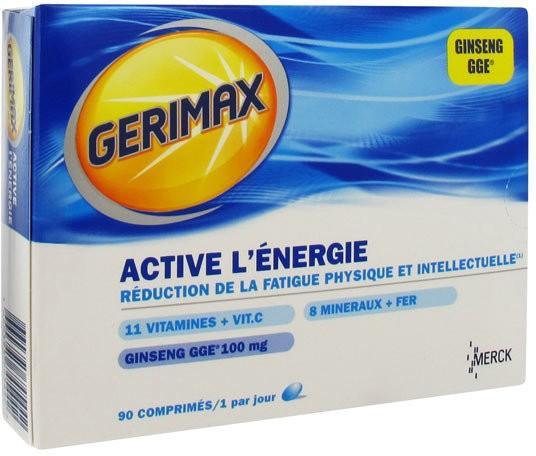 gerimax c vitamines ginseng 30 comprimes. Black Bedroom Furniture Sets. Home Design Ideas