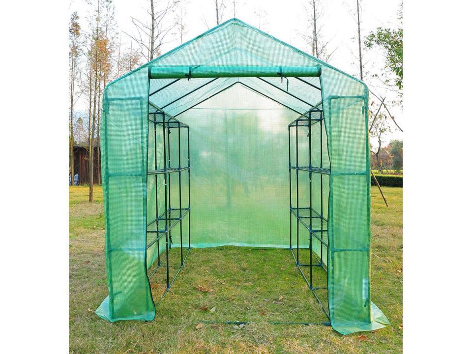 eden serre suprme en verre tremp et aluminium laqu vert halls. Black Bedroom Furniture Sets. Home Design Ideas