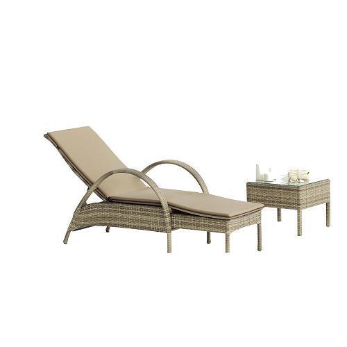 hevea chaise longue chilienne abasari 15 avec coussin catgorie fauteuil de jardin. Black Bedroom Furniture Sets. Home Design Ideas