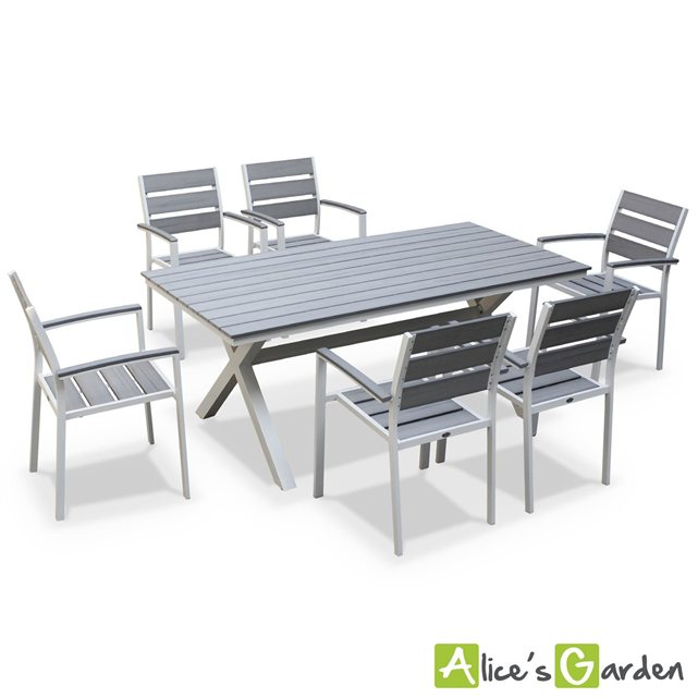 Alice c s garden salon de jardin table 180cm 6 places for Alice s garden meuble de jardin