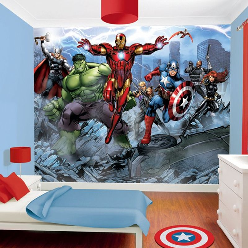 avengers papier peint enfant walltastic. Black Bedroom Furniture Sets. Home Design Ideas
