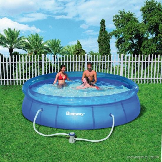 Bestway piscine hors sol 366 x 76 for Liner pour piscine hors sol bestway