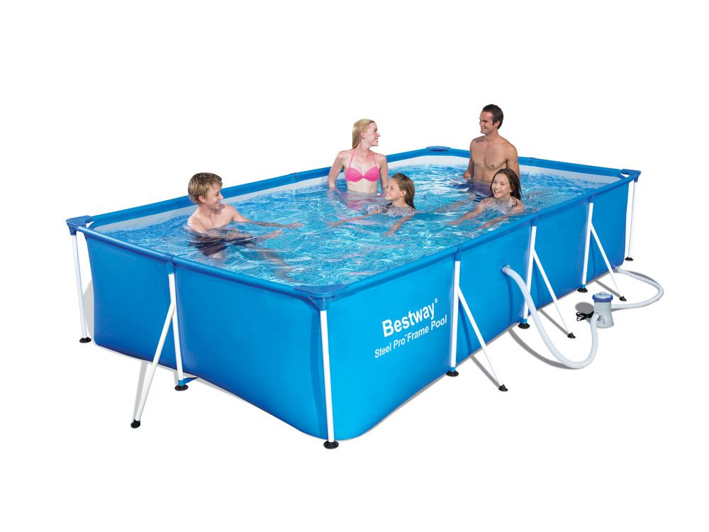 Bestway piscine rectangulaire family splash frame pools bl - Piscine bestway rectangulaire ...