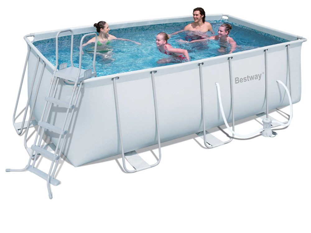 Bestway piscine tubulaire 4m12x2m01x1m22 for Piscine tubulaire