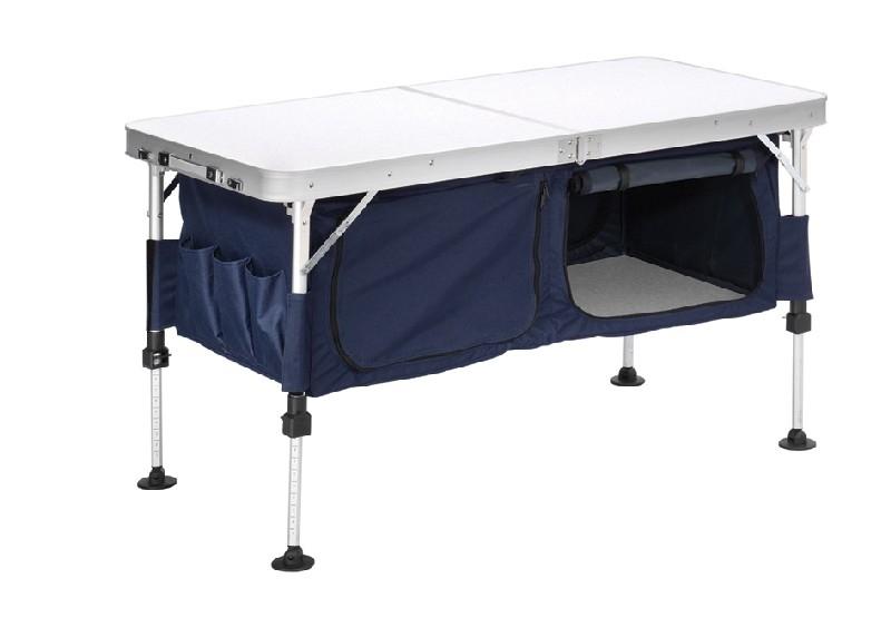 Campart table avec meuble de rangement new jersey for Meuble avec table pliante