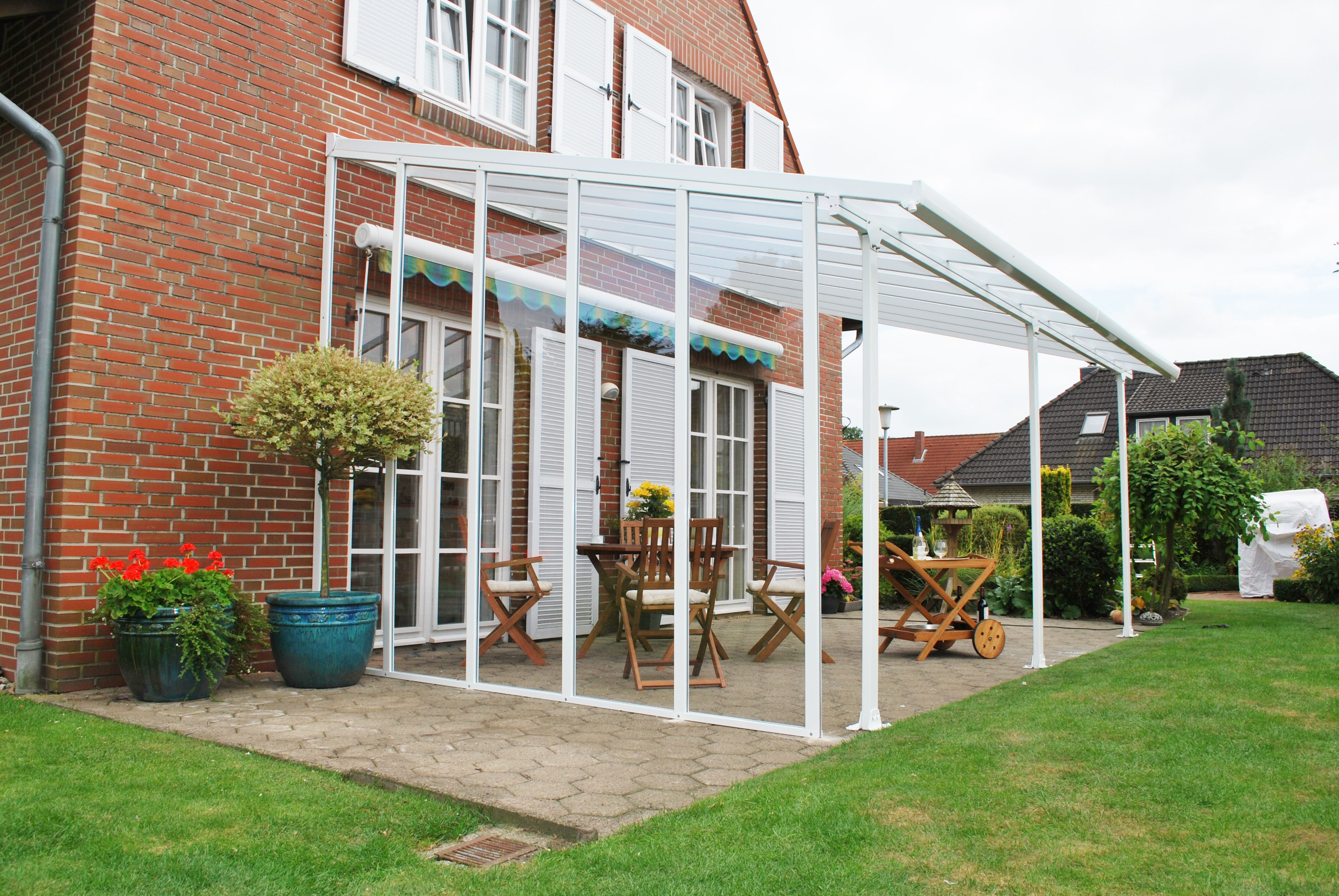 chalet jardin panneau lat ral toit terrasse 3m. Black Bedroom Furniture Sets. Home Design Ideas