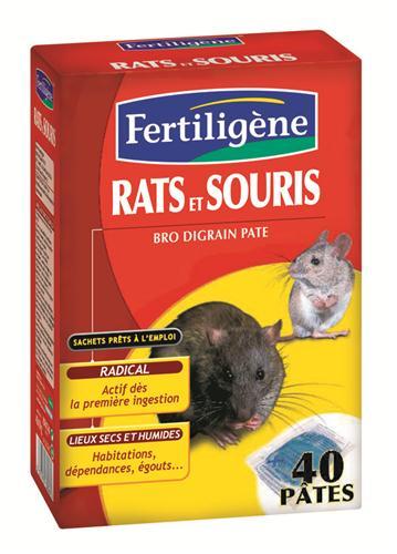 fertiligene raticide souricide pates pour rats et souris. Black Bedroom Furniture Sets. Home Design Ideas