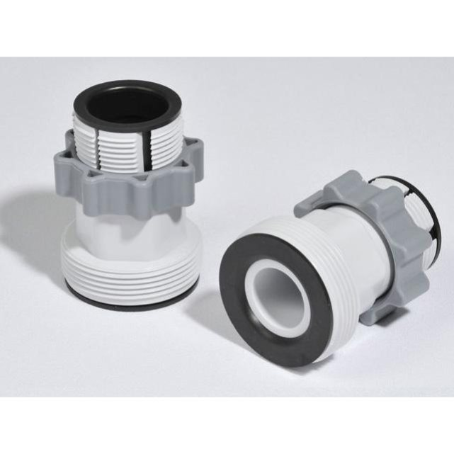 Intex set de 2 adaptateurs 32 38mm type b n10722 for Raccord filtration piscine