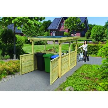 karibu abri pour v los et poubelles 2 en bois 720 m. Black Bedroom Furniture Sets. Home Design Ideas