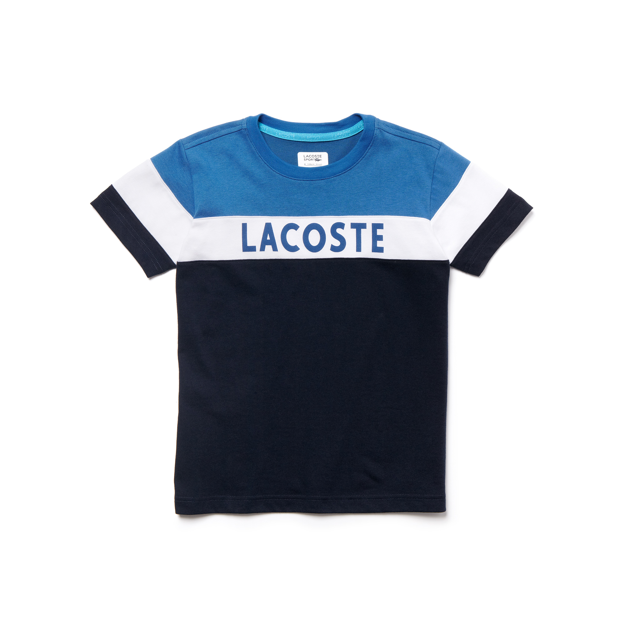 lacoste t shirt enfant col rond sport en jersey technique. Black Bedroom Furniture Sets. Home Design Ideas