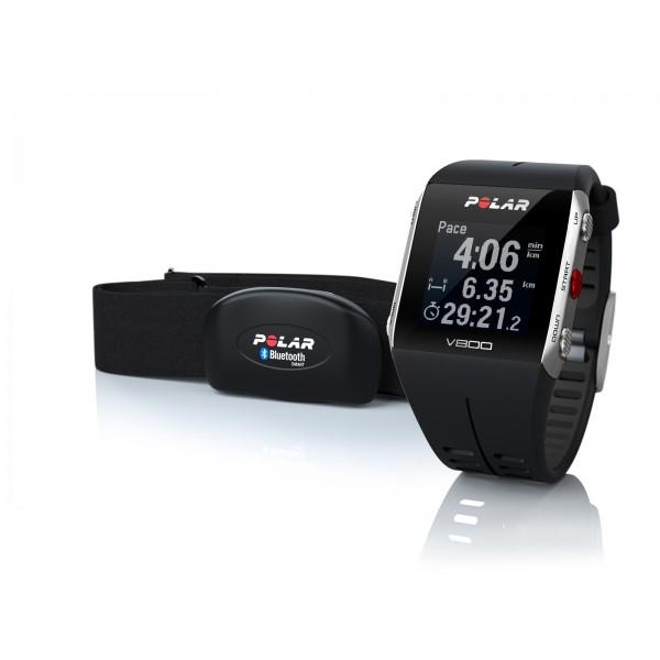 polar montre v800 noir gps avec ceinture cardio. Black Bedroom Furniture Sets. Home Design Ideas