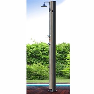 cristaline c douche solaire inox 30l robinet. Black Bedroom Furniture Sets. Home Design Ideas