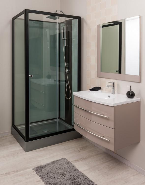 cabine de douche noire maison design. Black Bedroom Furniture Sets. Home Design Ideas