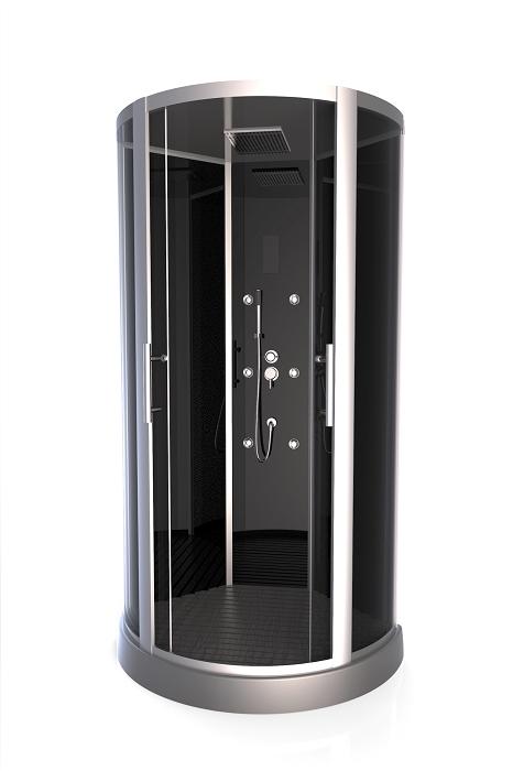 aurlane cabine de douche 1 4 rond premium round 95cm. Black Bedroom Furniture Sets. Home Design Ideas