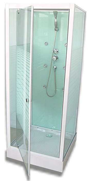 aurlane cabine de douche carr easy glass 80cm. Black Bedroom Furniture Sets. Home Design Ideas