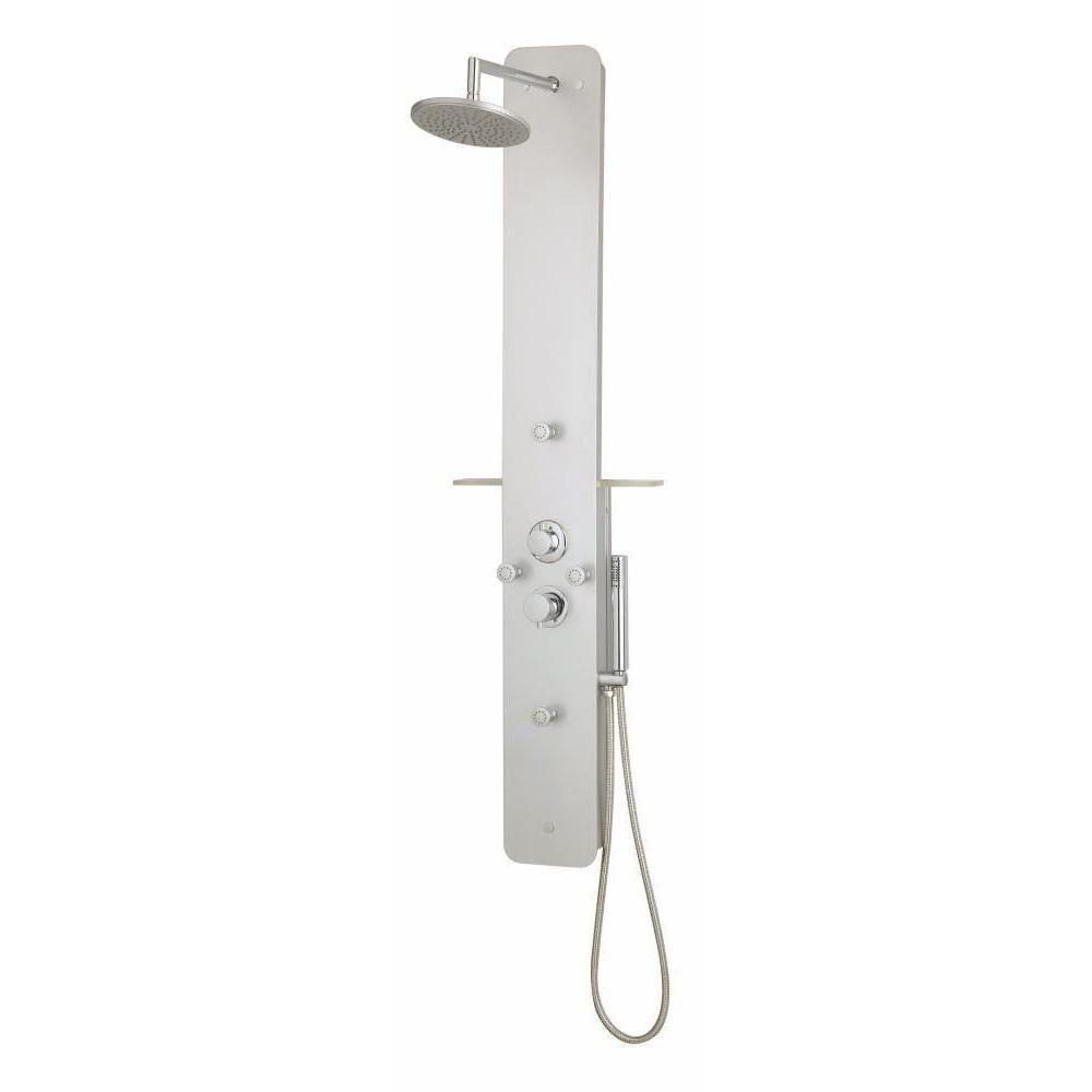 Rousseau midtime colonne de douche noir - Lapeyre colonne douche ...