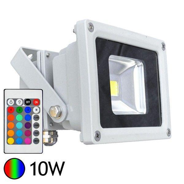 Vision cprojecteur 10w rgb avec t l commande radio - Projecteur led couleur exterieur ...