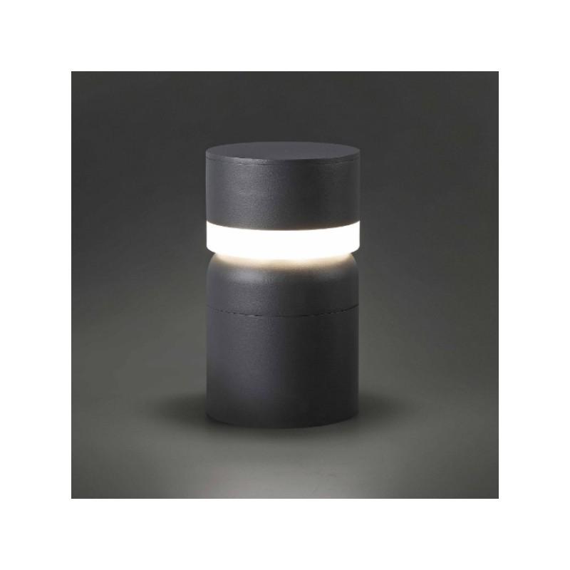 faro c borne lumineuse sete led gris fonc catgorie eclairage extrieur. Black Bedroom Furniture Sets. Home Design Ideas