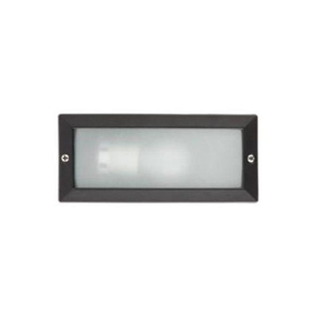 Faro c encastrable noir 1x40w e27 liso for Applique murale exterieur encastrable