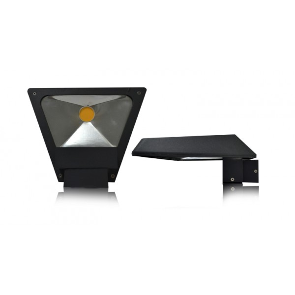vision applique murale led triangle 10w 3000 k anthracite. Black Bedroom Furniture Sets. Home Design Ideas