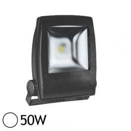 vision projecteur led plat 50w 6000k noir el 80031n. Black Bedroom Furniture Sets. Home Design Ideas