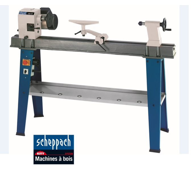 Kity c scheppach tour bois 1050 mm 750 w lata 5 0 - Machine a bois kity ...
