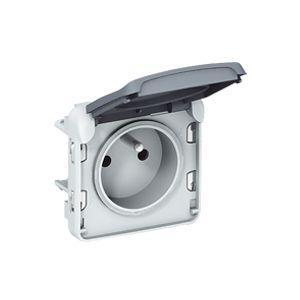 legrand prise de courant 2p t clips de protection gris 16. Black Bedroom Furniture Sets. Home Design Ideas