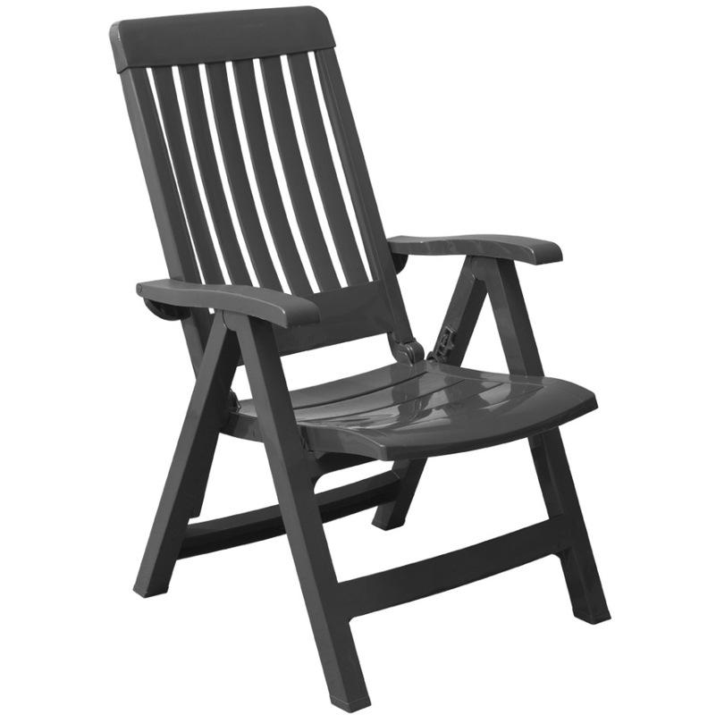 Grosfillex C2 fauteuils de jardin PVC Miami réglables anthr